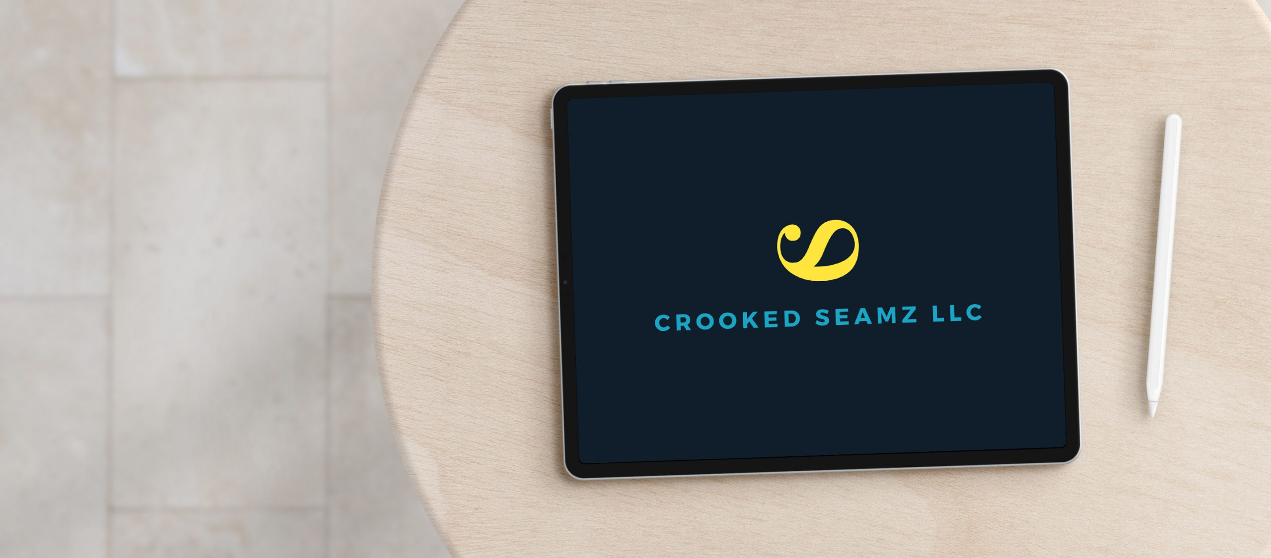Crooked Seamz | Handmade sustainable home decor logo design and branding by Éternel Design Studio