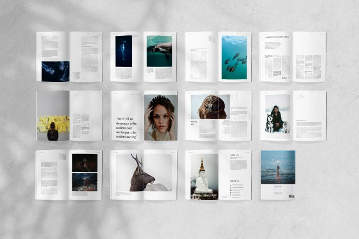 Cultura Magazine Template for InDesign