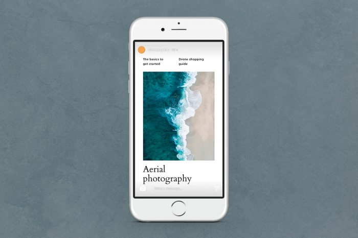 Ocean Instagram Stories for Photoshop and Canva