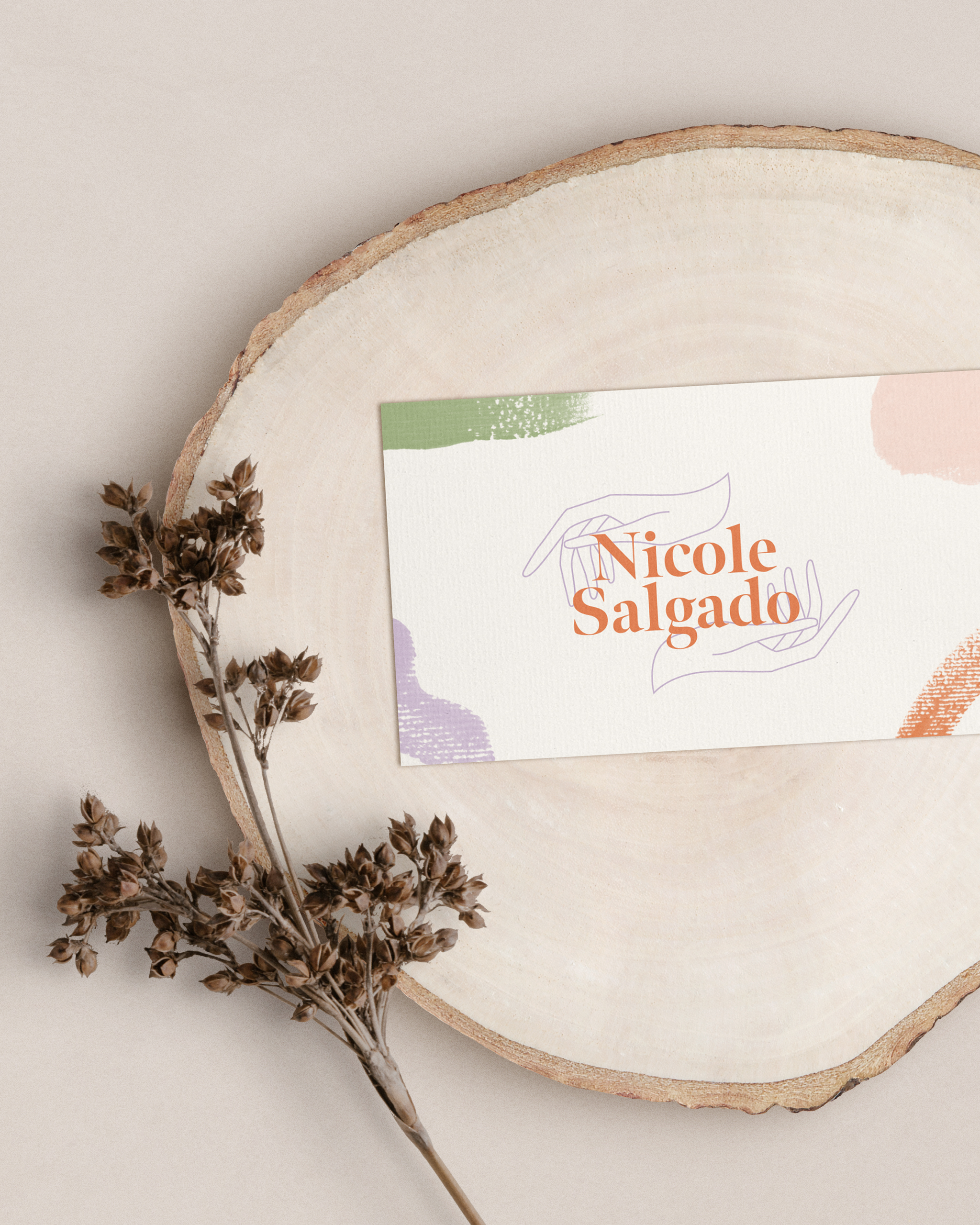 Nicole Salgado - Ethical fashion consultant business cards design